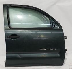 Green Front Right Door Ext.cab Small Dent And Scratch Oem 05-15 Toyota Tacoma