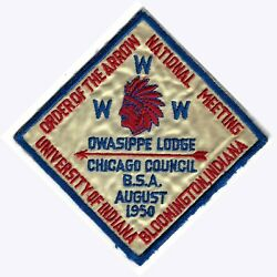 Oa - Owasippe Lodge 7 - 1950 National Meeting Issue.
