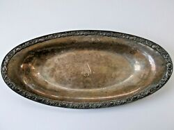 Wm Rogers And Sons Silverplate Serving Tray Konneyaut Indians Insignia