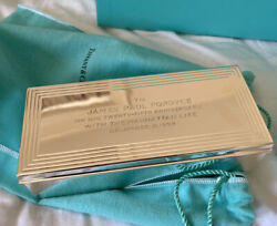 And Co Sterling Silver Cigar Cigarette Box Wood Interior Vintage 1959