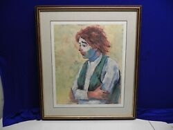Ray Lopez-aleman Laughter Lost Female Clown Of Ringling Brothers Circus Le Print