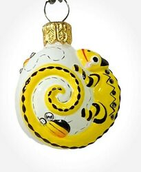 Patricia Breen Springtime Chameleon Bees Yellow 2929 1.5andrdquo 2009 Glass Jewels