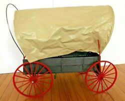 Marx Johnny West Vintage Covered Wagon With Horse Complete Harness And Whip