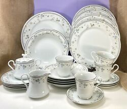 Vintage Mikasa Limousin Fine China L9046 Dinnerware Service For 4 Lot Of 24