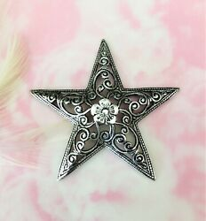 Antique Silver Large Dapt Filigree Floral Star Stamping Flower Finding Fa-6013