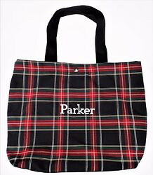 "Parker"" Embroidered Plaid Tote School Book Shopping Bag Overnight Carry Scottish $19.99"