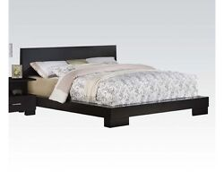 Contemporary Style Home Decor 1pc Queen Size Bedroom Furniture Bed Black Finish