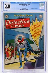 Detective Comics 163 Cgc 8.0 Very Tough In This Great Great Cover