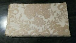 Vintage Upholstery Fabric Textured Embossed Floral Pattern 56quot; x 64quot;
