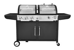 Royal Gourmet 3-burner Dual Fuel Cabinet Gas And Charcoal Grill Combo Zh3002