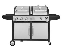 Royal Gourmet 3-burner Dual Fuel Cabinet Gas And Charcoal Combo Grill Zh3002s