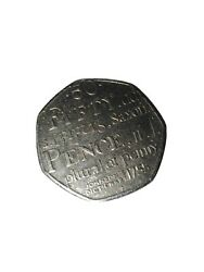 Uk 50p Coin Johnsonand039s Dictionary 1755. Saxon Plural Of Penny 2005