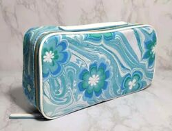 60 x ESTEE LAUDER BLUE FLOWERS IN WAVE COSMETIC TRAVEL CASE BAG 10*5*2.5 INCH $49.99
