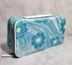100 x ESTEE LAUDER BLUE FLOWERS IN WAVE COSMETIC TRAVEL CASE BAG 10*5*2.5 INCH $79.99
