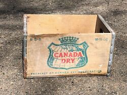 Vintage Canada Dry | B-8-b M-11-68 | Wooden Crate Bottle Box | 1968