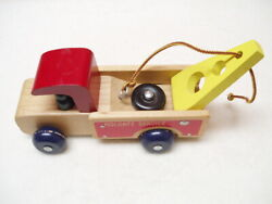 Vintage Holgate Toy Wooden Service Auto Repair Tow Truck