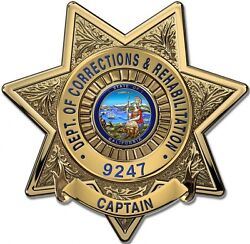 Calif. Dept. Of Corrections And Rehab Captain Bad... Metal Sign W/ Your Info