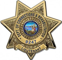 New Calif. Dept. Of Corrections And Rehab Lieutenant Bad....metal Sign W/