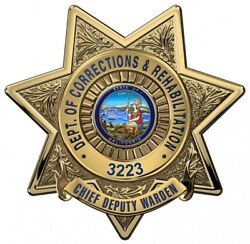 Calif. Department Of Corrections And Reh. Cdw Bad.. Metal Sign W Your 16 X 16