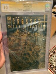 Crossed +100 1 Cgcss 10 Rare Alan Moore Signed 10.0 Gold Foil 9.8 9.9 Ss Cgc