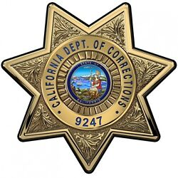 Calif. Department Of Corrections Cdc Officers Bad.... All Metal Sign Bad...