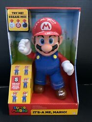Charles Martinet Itand039s A Me Mario 12 Inch Talking Action Figure Signed Psa 33551