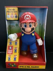 Charles Martinet Itand039s A Me Mario 12 Inch Talking Action Figure Signed Psa 33554