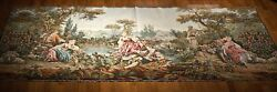 Antique French Hand Woven Old World Tapestry Mid 1800s 11and039x 5and039 Wool And Silk