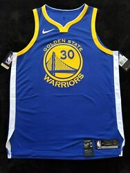 Nike Authentic Nwt Stephen Curry Golden State Warriors Jersey Nwt Pro-cut