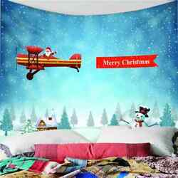 Snowman House Snowflakes 3d Wall Hang Cloth Tapestry Fabric Decorations Decor