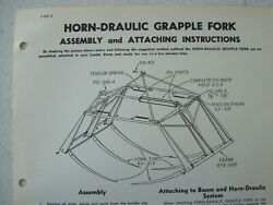Original Horn Draulic Grapple Fork Assembly And Attaching Instructions