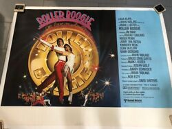 Roller Boogie Movie Poster Signed By Linda Blair/exorcist 1979 Original 48x62