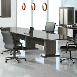 8 - 16' Modern Conference Room Table And Chairs Set Boardroom With 10 12 14 Foot
