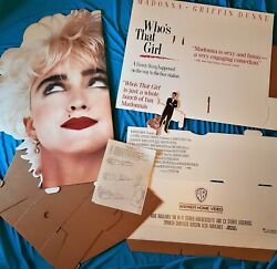 Madonna Whoand039s That Girl Promo Display 3d Diecut 1987 55and039and039x 27and039and039 Unassembled Rare