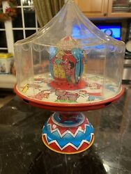 Circus Side Show J.chein Tin Lithographed Spinning Top Possible Prototype Toy