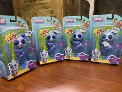 4-wowwee Fingerlings Baby Panda Archie Blue Glitter Interactive Toy