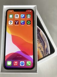 Apple Iphone Xs Max 64gb Gold - Atandt - W/ Box And Accessories Screen See Pic
