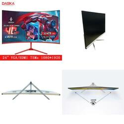 Daska 24 Inch Curved Lcd Monitor Gaming Game Competition 24 Led Computer Displa