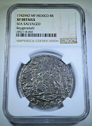 Ngc Reygersdahl Shipwreck 1742 Mexico Silver 8 Reales Antique 1700and039s Dollar Coin