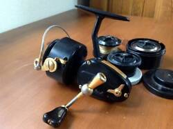 Used Mitchell 300dl Deluxe Spinning Reel With 3 Replacement Spools