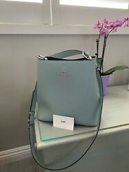 New authentic coach bucket bag in sky blue $180.00