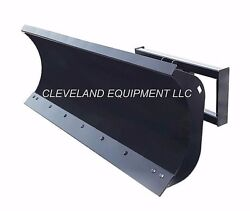 New 84 Hd Snow Plow Attachment Skid-steer Loader Angle Blade John Deere Case 7and039