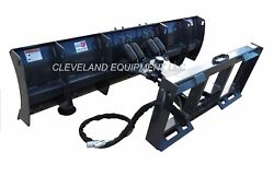 New 84 Manual Angle Compact Tractor / Skid Steer Snow Plow Blade Attachment 7'