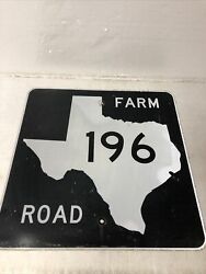 Authentic Retired Texas Farm Road 196 Highway Sign