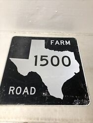 Authentic Retired Texas Farm Road 1500 Highway Street Sign