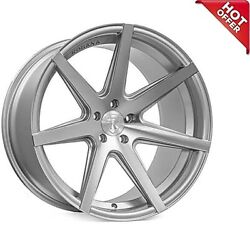New 4ea 19x8.5/19x9.5 Staggered Rohana Wheels Rc7 Machined Silver Rims 19s12