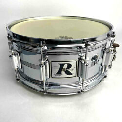 Vintage 70's Rogers Snare Drum Big R Dyna-sonic 14×6.5 Chrome Over Brass Rare O