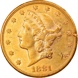 [884688] Coin United States 20 Double Eagle 1881 San Francisco Ef Gold