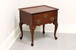 Hickory Chair James River Mahogany Queen Anne Nightstand / Accent Side Table