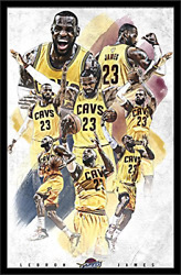 Trends International Cleveland Cavaliers Lebron James Wall Poster 22.375 X 34